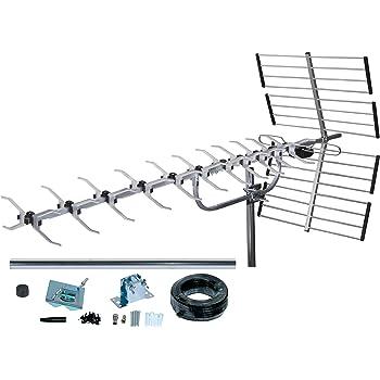 Antenne TV Exterieur TNT SLx 27985K4 Kit Antenne 64 Eléments avec Filtre 4G  intégré: Amazon.fr: High-tech