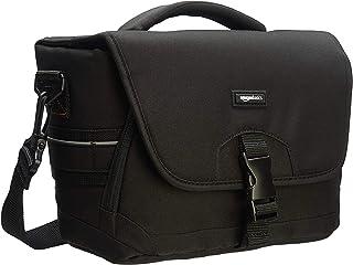 AmazonBasics - Bolsa para cámaras DSLR y Accesorios (tamaño Mediano) Negro y Gris
