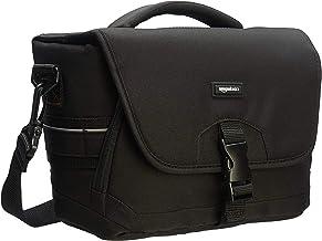 AmazonBasics - Bolsa para cámaras DSLR y accesorios (tamaño mediano, interior de color gris), color negro