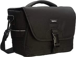 AmazonBasics DSLR Gadget Messenger Bag Medium  Black with Grey Interior