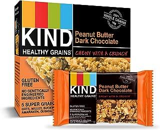 KIND Healthy Grains Granola Bars, Peanut Butter Dark Chocolate, Gluten Free, 1.2 Ounce (30 Count)