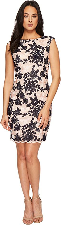 LAUREN Ralph Lauren - Montague Bria Embroidered Scallop Mesh Dress
