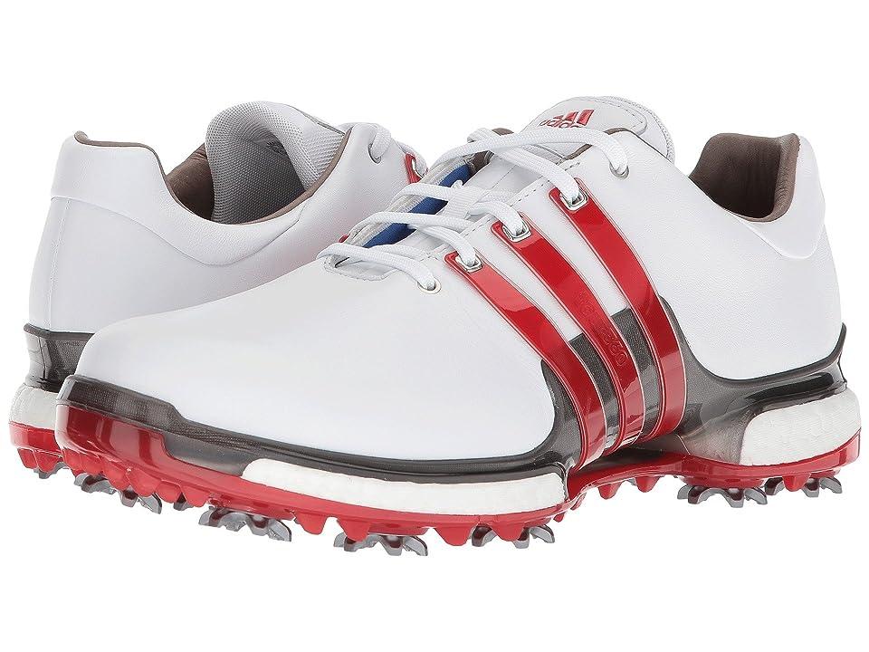 adidas Golf Tour360 2.0 (Footwear White/Scarlet/Dark Silver Metallic) Men