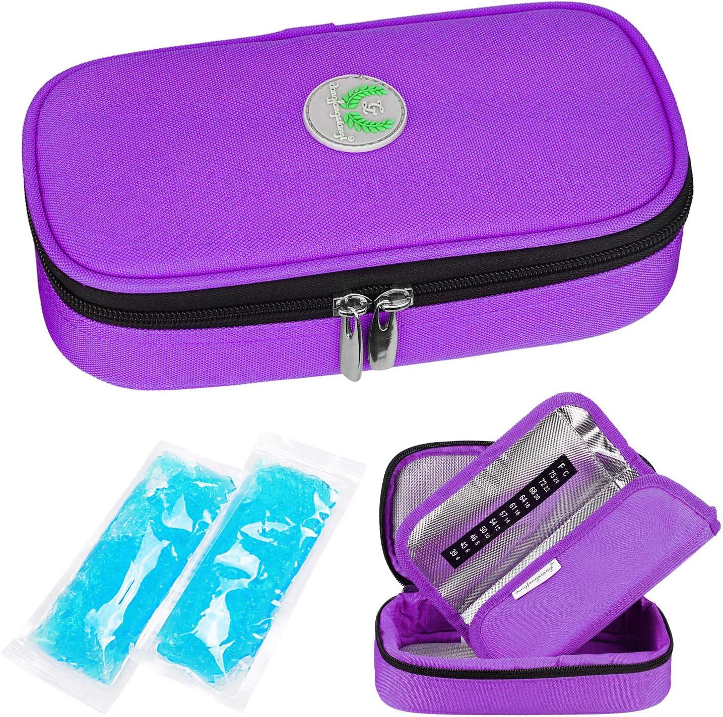 Insulina Nevera Viaje Caso - Medicación Diabéticos Aislado Organizador Bolsa de Refrigeración Portátil para la Pluma de Insulina y Suministros con 2 Hieleras Paquete de Hielo por YOUSHARES