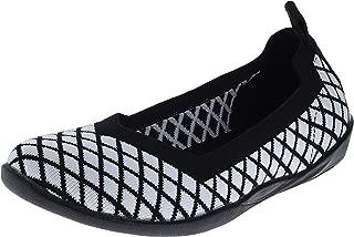 Bernie Mev Catwalk X Black White Womens Comfort Slip-On Size 36M