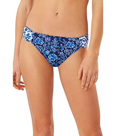 Tommy Bahama Woodblock Reversible Hipster (Mare Navy) Women