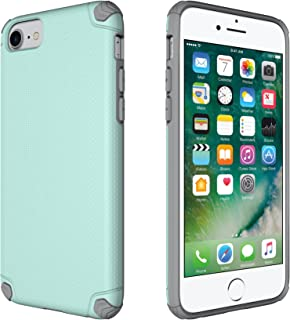 CellEver Slim Guard Pro Heavy Duty Case Protective Shock-Absorbing Scratch-Resistant Drop Protection Cover for Apple iPhone 6 / 6s / 7/8 (Fits All 4 Models) (Mint/Gray)