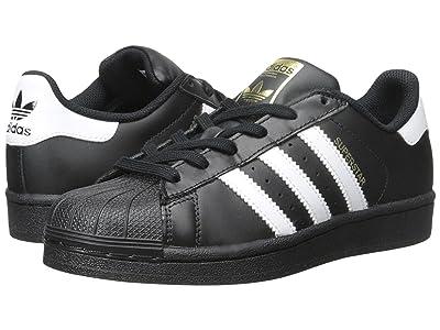adidas Originals Kids Superstar Foundation (Big Kid) (Black/White/Black) Kids Shoes