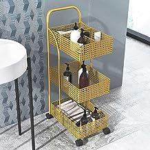 3-poziomowy Wózek Narzędziowy, Wielofunkcyjny Wózek Do Przechowywania Narzędzi, Z Kółkami I Koszem Siatkowym, Idealny Do K...