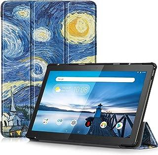 VISIBEE Funda de Piel con Tapa para Samsung Galaxy Tab A6 T580 T585 10,1, Incluye Protector de Pantalla y l/ápiz Capacitivo