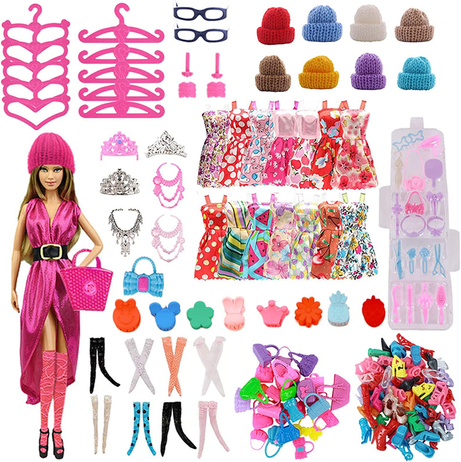 ZWSISU Bargain sale 66PCS Doll Clothes and Decoration 11 Popularity Accessories Fit