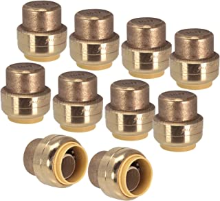 PROCURU 1/2-Inch PushFit End Cap, Push-to-Connect Plumbing Fitting for Copper, PEX, CPVC, PE-RT Pipe, Lead Free Certified (1/2