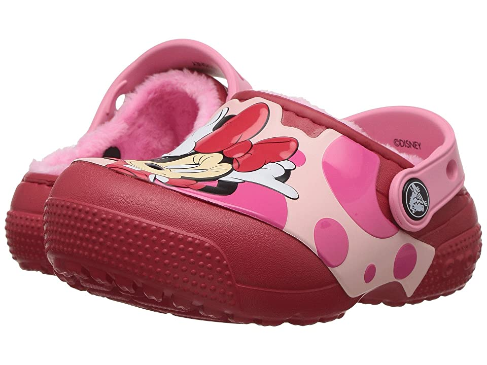 Crocs Kids FunLab Lined Minnie Clog (Toddler/Little Kid) (True Red) Girls Shoes