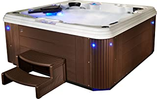 Essential Hot Tubs 67 Jets Syracuse Lounger, Rotationally Molded Hot Tub, Espresso
