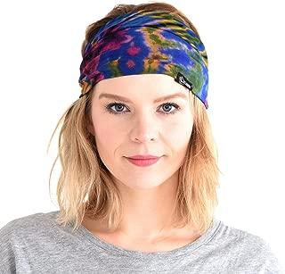 Tie-Dye Headband Bandana Boho Hippie Retro Flower psychedelic 60's
