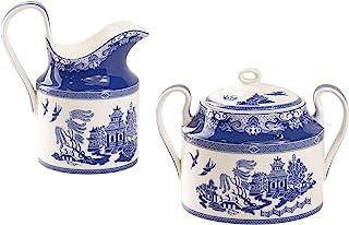 Grace Teaware Bone China Blue Willow Sugar And Creamer Set (2-Piece Set)