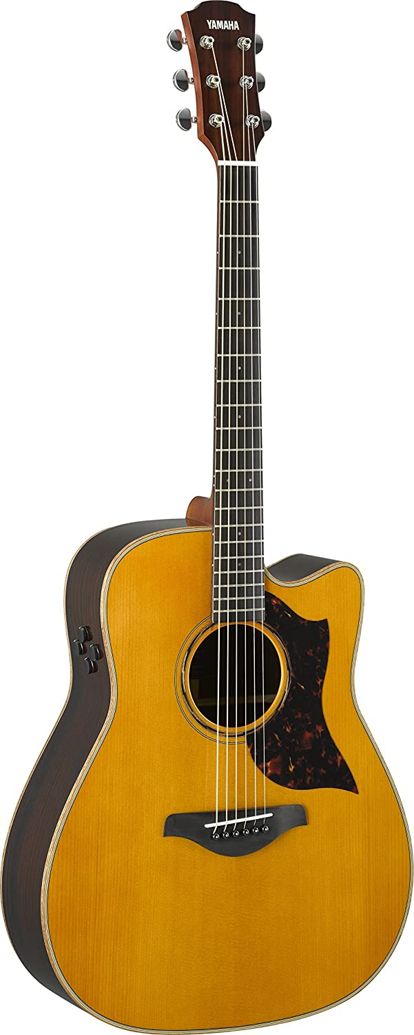 Yamaha A-Series A3R Acoustic-Electric Guitar with Soft Case, Vintage Natural
