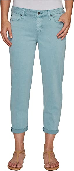 Riley Relaxed Crop in Stretch Peached Twill in Slate Blue