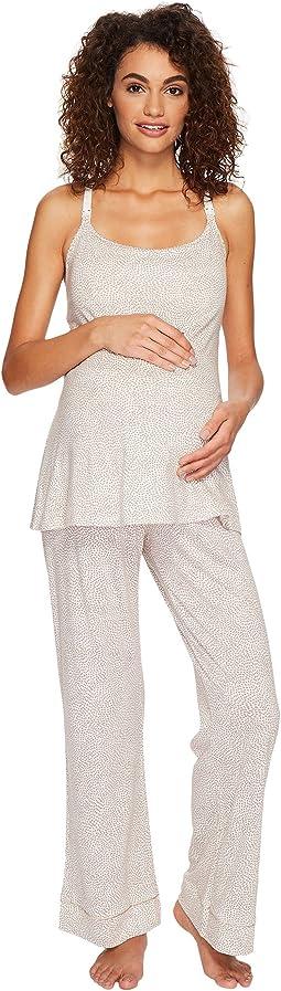 Cosabella - Bella Maternity Print Amore Print Cam Pants Black PJ Gift