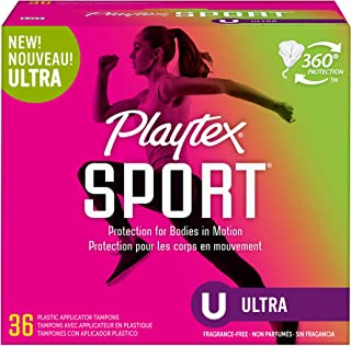 Playtex Sport Tampons Ultra Absorbency, Unscented, 36 Count