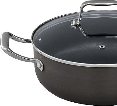 Amazon Brand – Stone & Beam Kitchen Cookware Set, 17-Piece, Pots and Pans, Hard-Anodized Non-Stick Aluminum