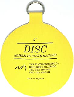 Flatirons Disc - Invisible English Disc - Adhesive Plate Hanger, 4 inch - (10 Pack)