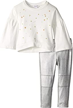 Embroidered French Terry Set (Little Kids)