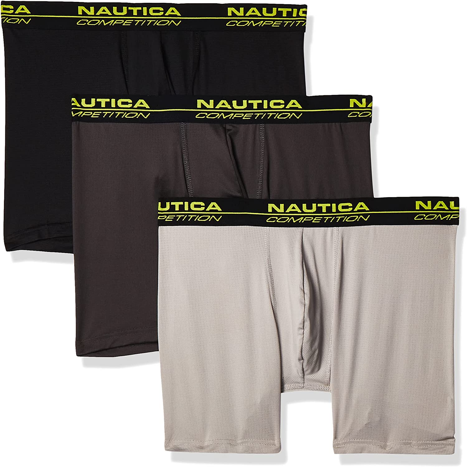 Nautica Men's Competition Light Weight Mesh 3 Pack Boxer Brief