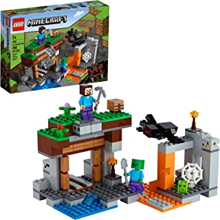 LEGO Minecraft The Abandoned Mine 21166 Zombie Cave Battle Playset with Minecraft Action Figures and a Toy Spider، New 2021 (248 Pieces)