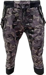 Crazy Age Camouflage spodnie do joggingu Capri damskie szorty Boyfriendhose Bagyhose z szelkami