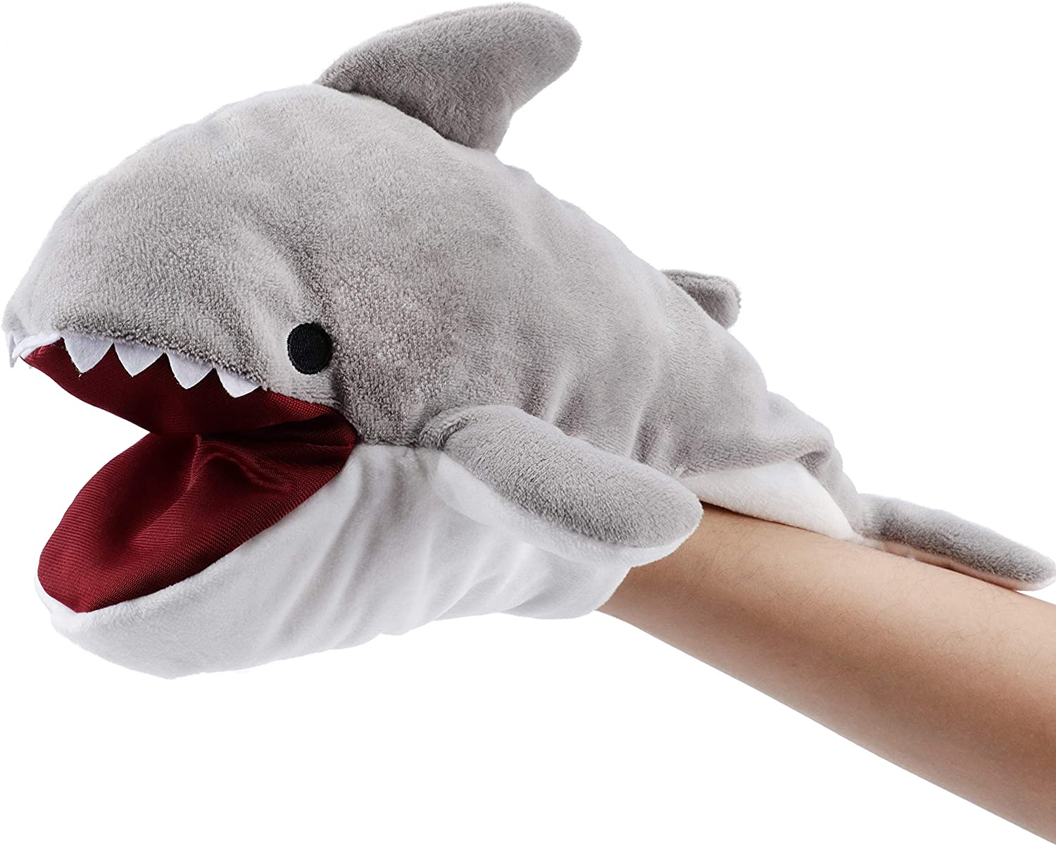 Hopearl Plush Shark specialty shop Hand Puppet with for Direct store Imag Open Mouth Movable