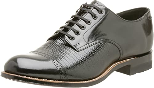 Stacy Adams Hommes's Madison Lizard Print Oxford,noir,14 M