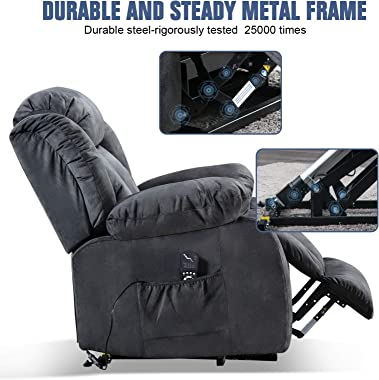 ANJ Power Massage Lift Recliner Chair with Heat & Vibration for Elderly, Heavy Duty and Safety Motion Reclining Mechanism