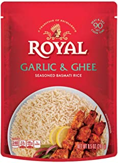Sponsored Ad - Authentic Royal Ready To Heat Rice, 4-Pack, Garlic & Ghee