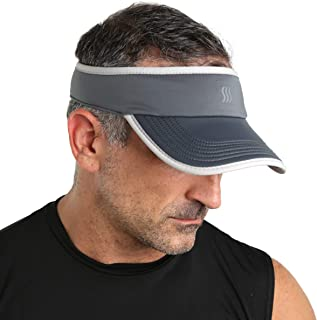 SAAKA Men's Super Absorbent Visor. Best for Tennis, Golf, Running & All Sports.