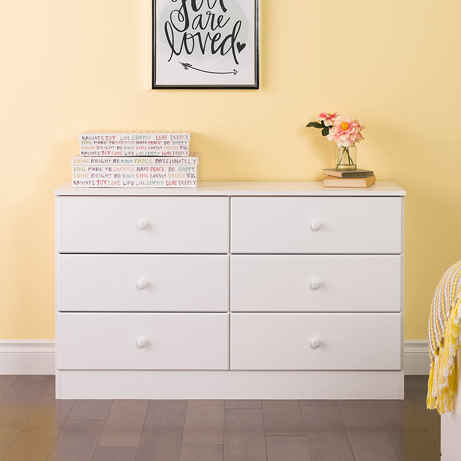 67% OFF of fixed price Prepac Astrid 6 2021 spring and summer new Dresser White Drawer