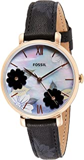 Fossil Women's Quartz Watch, Analog Display And Leather Strap - ES4535-1