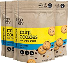 HighKey Snacks Keto Mini Low Carb Cookies – Chocolate Chip, Pack of 3, 2.25oz Bags – Keto Friendly, Gluten Free, Healthy Snack - Sweet, Diet Friendly Dessert – Ketogenic Food with Natural Ingredients