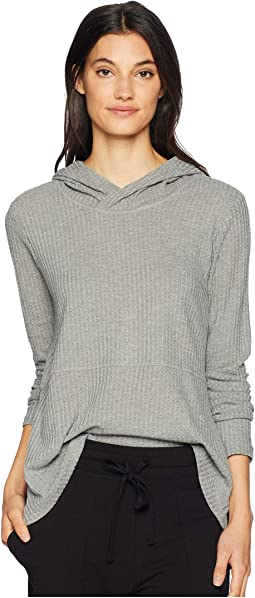 Best Intentions Waffle Knit Hooded Top
