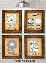 Original Record Players Patent Art Prints - Set of Four Photos (8x10) Unframed - Makes a Great Gift Under $20 for Vinyl Lovers and Collectors