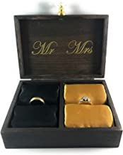 Strickland Wedding Decor | Mr. and Mrs. A Match Made in Heaven Wedding Ring Box for Ceremony | Engagement Ring Box | Ring Bearer Box | Ring Box | Ring Display Case | Wedding Decor |