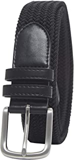 Amazon Essentials Men's Stretch Woven Braid Belt