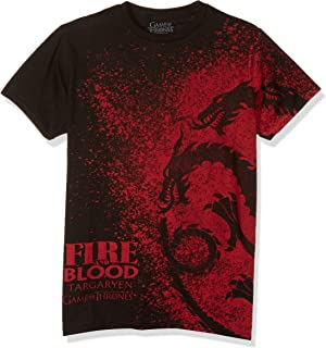 HBO'S Game of Thrones Men's Fire and Blood Splatter T-Shirt