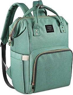 Diaper Backpack, Large Capacity Baby Bag, Multi-Function Travel Backpack Nappy Bags, Nursing Bag, Fashion Mummy, Roomy Wat...