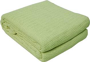J&M Home Fashions Soft Premium Cotton Thermal Blanket Twin/Full, 72x90, Green