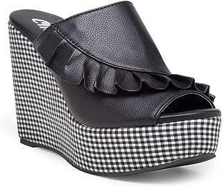 Chalk Studio - Checkmate Black - Wedge Heels