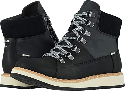 Waterproof Black Leather/Techy Nylon