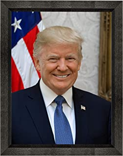 """Donald J. Trump Photograph in a Black Beveled Frame - Historical Artwork from 2017 - US President Portrait - (5"""" x 7"""") - Gloss"""