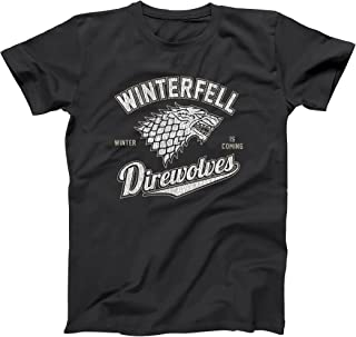 Winterfell Direwolves Winter is Coming North Wall Mens Shirt