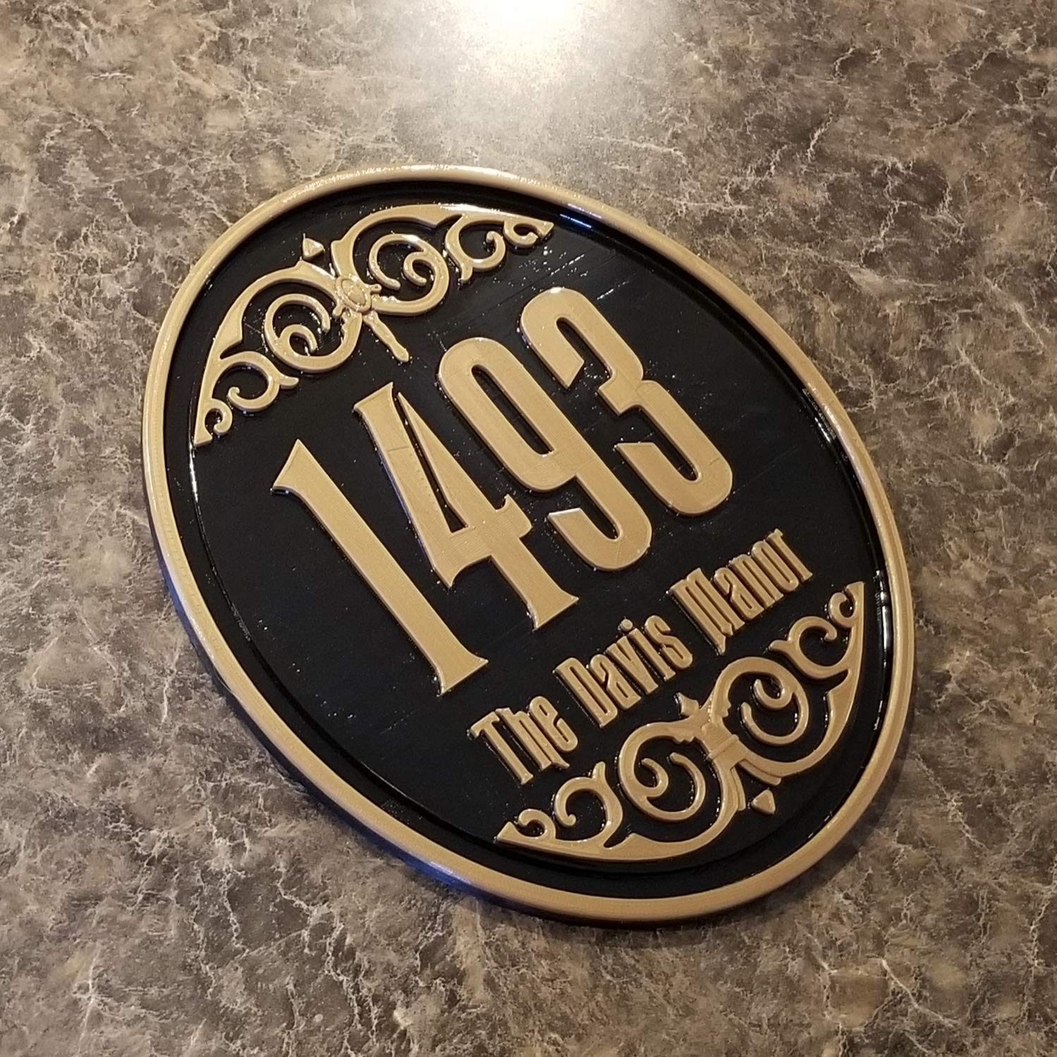 Personalized Haunted Mansion House Sign OFFicial store Address Inspired famous Plaque